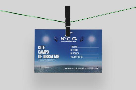 Carnet de socio del club kite Campo Gibraltar