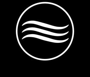 Glassy Logo V Negro